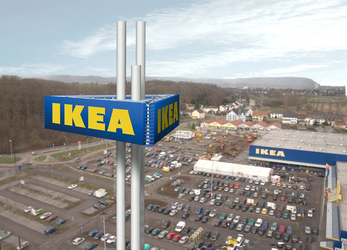 ikea sign tower sichtbarkeitsstudie werft 6 all dimensional media. Black Bedroom Furniture Sets. Home Design Ideas