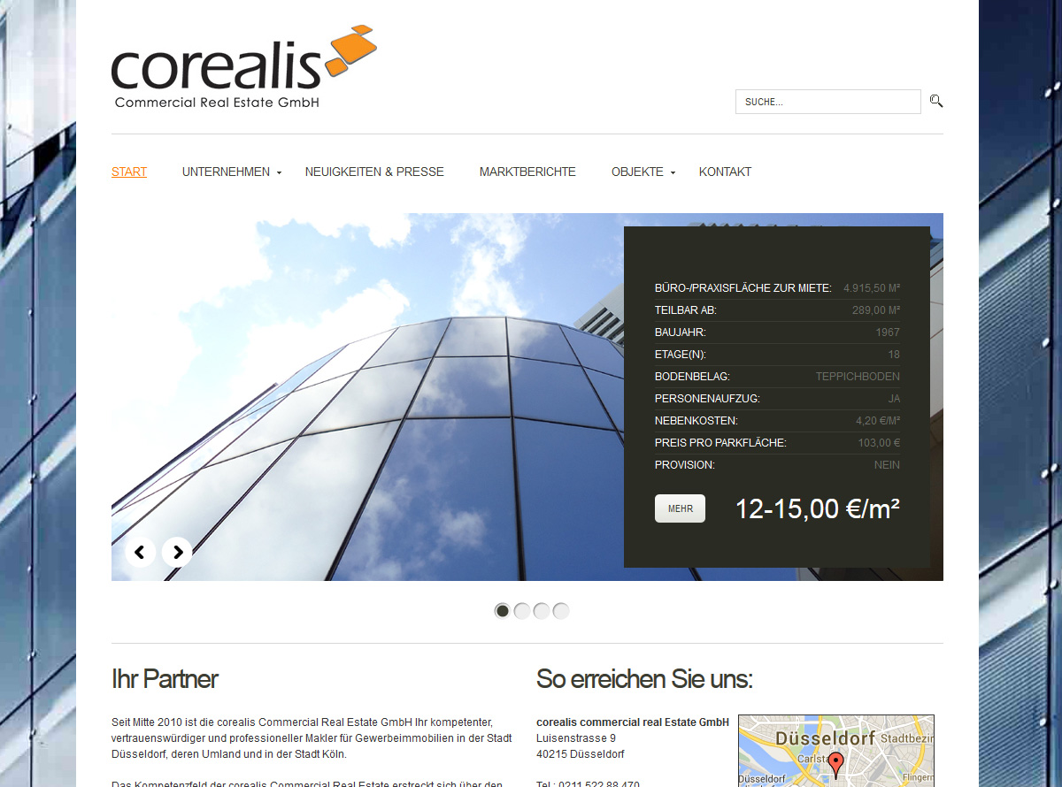 Website corealis.de