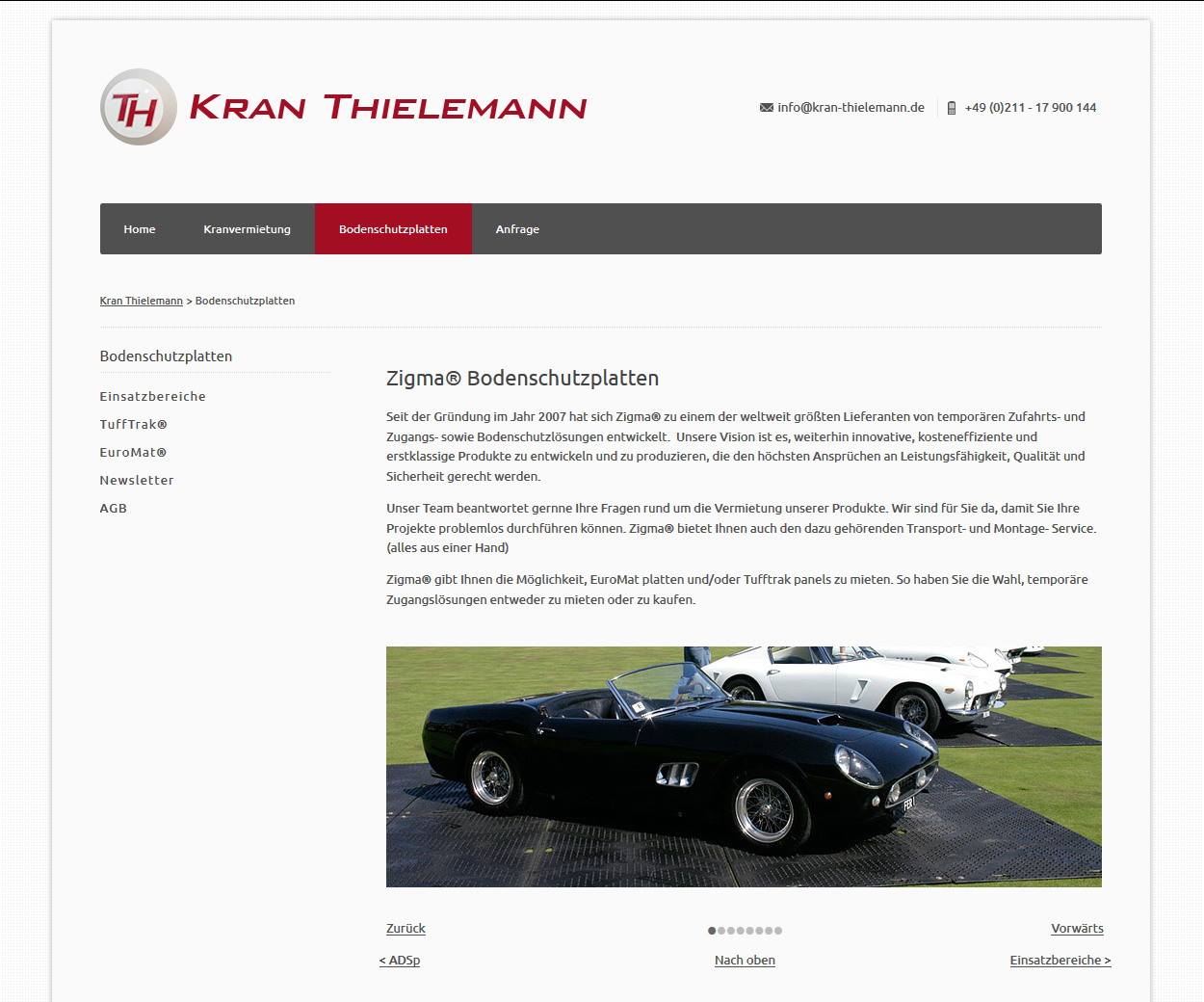Website kran-thielemann.de