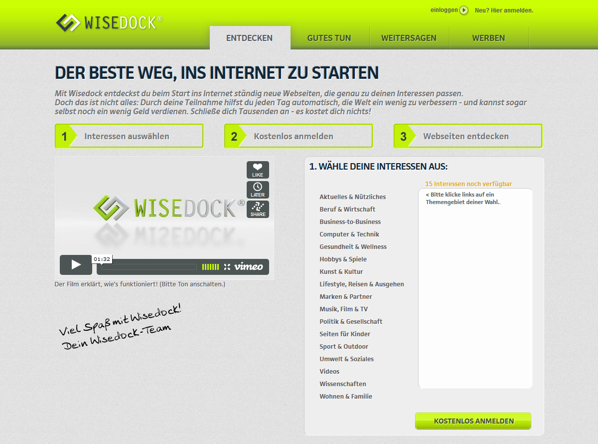Website wisedock.com
